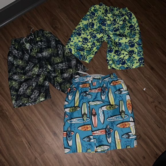 OP Other - 3 pair of Youth size 10/ 12  swim trunks